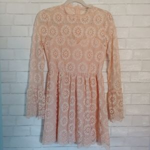 Forever 21 Pink Lace Dress S